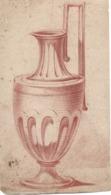 Dessin En Sanguine XVIIIe Représentant Un Vase - Dessins