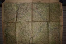 Carte Opérations Sur Le Front Français 1944 Bale Mézières Cologne 112 X 75 Cm - Documenti