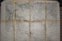 Carte Groupe De Canevas De Tir 1917 Bavay 75 X 106 Cm - Documenti