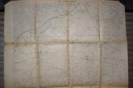 Carte Groupe De Canevas De Tir 1918 Le Nouvion 75 X 106 Cm - Documenti