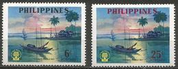 Philippines - 1960 World Refugee Year MNH **   Mi 652-3  Sc 817-8 - Philippines