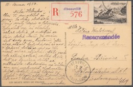 FRANCE - 15.6.1950, Reco Postcard From RIBEAUVILLE (Haut-Rhin) To Tchecoslovaquie - Marcophilie (Lettres)