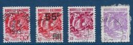 """Nle-Caledonie YT 638 640 654 655 """" Le Cagou """" 1993/94 Oblitéré - Neukaledonien"""
