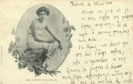 LES SAISONS Chrysanthemes  Jeune Femme épaules Nues  RV - Donne