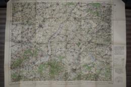 Carte Toilée En Anglais War Office Geographical Section Général Staff 1916 St Quentin Saint Quentin 85 X 65 Cm - Documents
