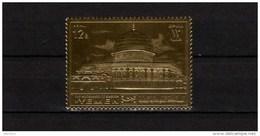 Yemen Kingdom 1969 Dome Of The Rock Gold Stamp MNH - Moskeeën En Synagogen