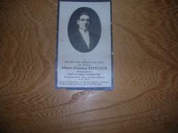 Albert-Maurice Titeljon (Oostende 1900-Buta (B.-Congo)1928) - Kapitein-Mecanicien Aan Boord Der S/W  Inzia;Visserij - Images Religieuses