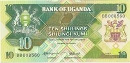 UGANDA 10 SHILLINGS 1987 PICK 28 UNC - Uganda