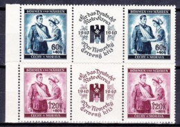 Boheme Et Moravie 1940 Mi 53-4 (Yv 39-40), (MNH)** - Unused Stamps