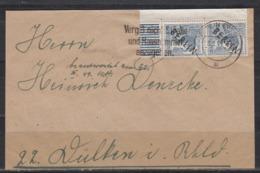 Berlin Schwarzaufdruck MiNo. 5 Eckpaar Feld 81/91 Walze Auf Brief-VS Berlin 9.2.49 - Used Stamps