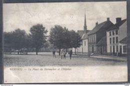 Carte Postale 59. Wervicq  Place De Steenacker Et L'hôpital Trés Beau Plan - Autres Communes