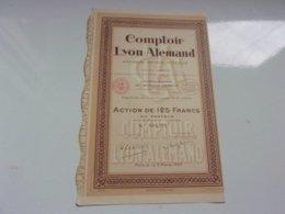 COMPTOIR LYON ALEMAND (affinage Métaux Precieux) 1933 - Actions & Titres