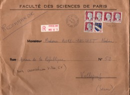 Faculté Des Sciences De Paris - Recommandé 1963 Avec Decaris YT 1263 - Paris 28 - Marcophilie (Lettres)