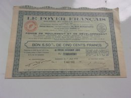 Le Foyer Français (1933) - Actions & Titres