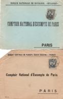 Perforé Perfint Perforated : Banque Bucarest & Ploesti - 3 Scans - !!! Devant De Lettre Seul - 1881-1918: Charles I
