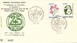 Argentina Cover SCOUTING 25th. Anniversary 3-4/11-1984 With Nice Cachet - Scouting