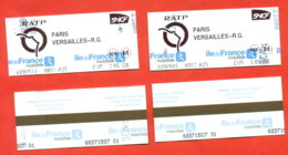 France 2019. City Paris. Lot Of Two Tickets. - Railway