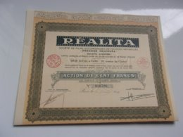 REALITA  Films Documentaires (100 Francs) - Actions & Titres