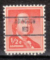 USA Precancel Vorausentwertung Preo, Locals Maryland, Abingdon 853 - Vereinigte Staaten