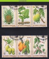 Nff018 FLORA VRUCHTEN ANANAS CACAO FRUIT FRÜCHTE FRUITS S. TOMÉ E PRÍNCIPE 1981 Gebr/used - Fruit
