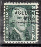 USA Precancel Vorausentwertung Preo, Locals Maryland, Accokeek 745 - Vereinigte Staaten