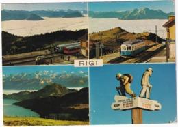 Rigi 1800 M. ü. M. - 2x TRAIN / ZUG - Bahnhof - (Schweiz/Suisse) - Treinen