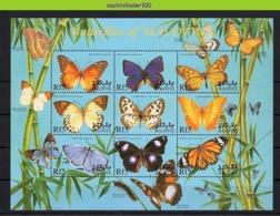 Nff022b FAUNA VLINDERS BUTTERFLIES SCHMETTERLINGE MARIPOSAS PAPILLONS MALDIVES 2000 PF/MNH # - Schmetterlinge