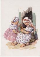 Künstlerkarte 3 MFK - Kinder In Tracht 1940 Mund Und Fuß Malende Künstler - Künstlerkarten