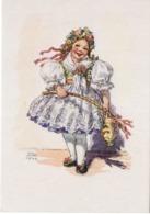 Künstlerkarte 4 MFK - Mädchen In Tracht 1940 Mund Und Fuß Malende Künstler - Künstlerkarten