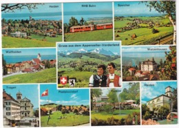 Gruss Aus Dem Appenzeller-Vorderland - RHB Bahn - Heiden, Speicher, Trogen, Pestalozzidorf Usw.  - (Schweiz/Suisse) - Treinen