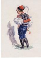 Künstlerkarte 5 MFK - Bub In Tracht 1940 Mund Und Fuß Malende Künstler - Künstlerkarten
