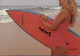 Meisje Aan Het Strand Surfing - Girl At Beach Surfing Used - Cartes Postales