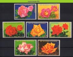 Nff024 FLORA BLOEMEN ROOS ROZEN ROSES FLOWERS BLUMEN FLEURS FLORES GUINEA ECUATORIAL 1979 PF/MNH - Rozen