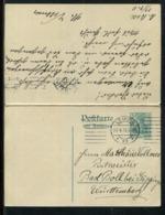 Deutsches Reich / 1911 / Postkarte Mit Antwortkarte Steg-Stempel Leipzig Und K1 Boll. Bad (24480) - Germany