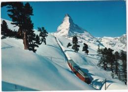 Zermatt - Die Gornergratbahn 1616-3130 M - Matterhorn 4478 M - (Schweiz/Suisse) - Treinen