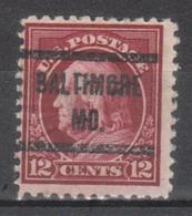 USA Precancel Vorausentwertung Preo, Locals Maryland, Baltimore 1917-212 - Vereinigte Staaten