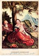 Künstlerkarte 8 MFK - Heilige Familie Weihnacht Ca 1950 Mund Und Fuß Malende Künstler - Künstlerkarten