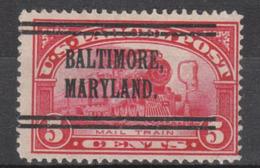 USA Precancel Vorausentwertung Preo, Locals Maryland, Baltimore Q5-L-2 TS - Vereinigte Staaten