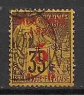 Indochine - 1889 - N°Yv. 1 - Alphée Dubois 5c Sur 35c Violet Sur Jaune - Oblitéré / Used - Indochine (1889-1945)