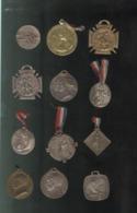 Lot De 12 Badges Patriotiques De Journée En Métal - Voir Photos - Militaria