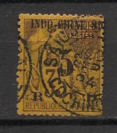 Indochine - 1889 - N°Yv. 2 - Alphée Dubois 5c Sur 35c Violet Sur Jaune - Oblitéré / Used - Gebraucht