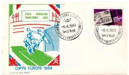 Busta Roma: COPPA EUROPA FOOTBALL (1968);no Viaggiata; AS_Roma - 1946-.. République