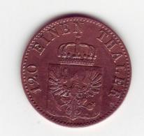"""(Monnaies). Allemagne. Germany. Deutchland. 3 Pfenninge 1864 """"A"""" - Taler Et Doppeltaler"""