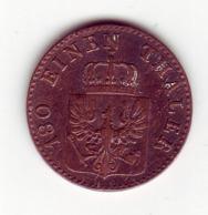 """(Monnaies). Allemagne. Germany. Deutchland. 2 Pfenninge 1853 """"A"""" - Taler Et Doppeltaler"""