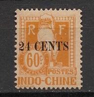 Indochine - 1919 - Taxe TT N°Yv. 27a - Angkor 24c Sur 60c Jaune - Variété 4 Fermé - Neuf * / MH VF - Portomarken