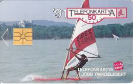 Hungary, P-1991-01Ac, Balaton Surf, First Issue, Matt, 2 Scans.   No Moreno Logo - Ungarn