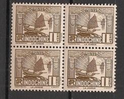 Indochine - 1931 - N°Yv. 155 - Jonque 1c - Bloc De 4 - Neuf Luxe ** / MNH / Postfrisch - Neufs