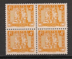 Indochine - 1931 - N°Yv. 158B - Angkor 4c - Bloc De 4 - Neuf Luxe ** / MNH / Postfrisch - Neufs