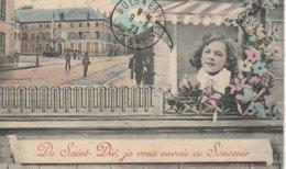 CPA 88 (Vosges)  SAINT DIE / DE ST DIE JE VOUS ENVOIE CE SOUVENIR / N° 2 / ANIMEE - Saint Die