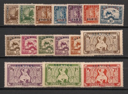 Indochine - 1933 - Service N°Yv. 1 à 16 - Série Complète - Neuf Luxe ** / MNH / Postfrisch - Indochina (1889-1945)